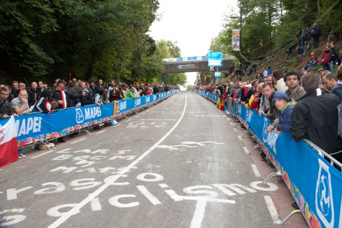 The Cauberg stretches ahead. Photo: Casey B. Gibson | www.cbgphoto.com